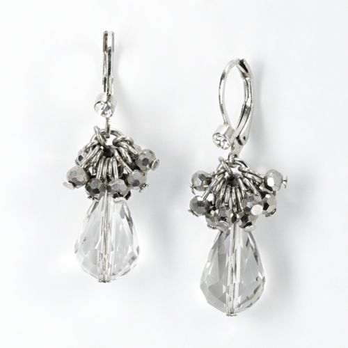Simply Vera Vera Wang Two Tone Cluster Drop Earrings