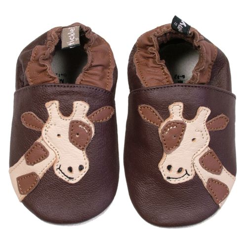 Baby Tommy Tickle Brown Giraffe Crib Shoes