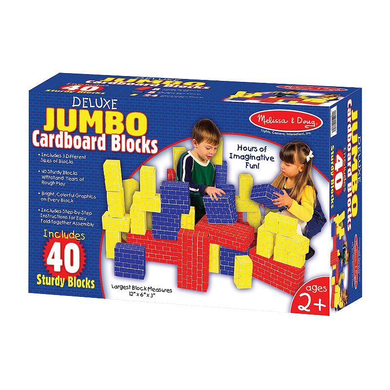 Melissa and Doug Deluxe Jumbo Cardboard Blocks