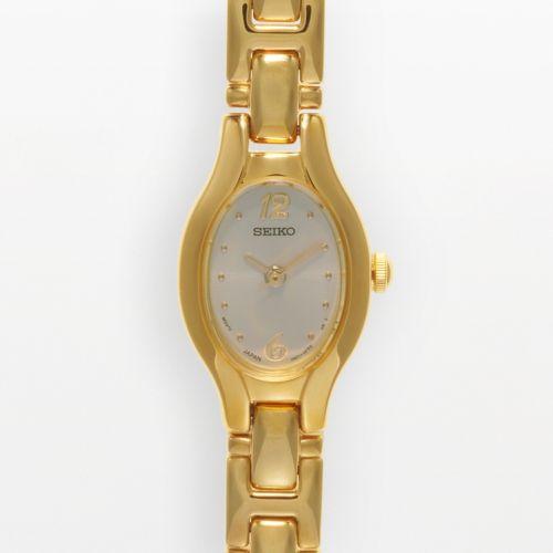 Seiko Gold Tone Stainless Steel Watch - SXGJ72 - Women