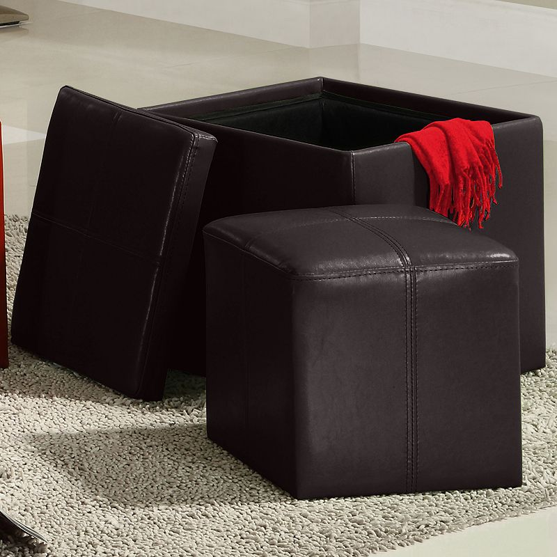 HomeVance Storage Ottoman