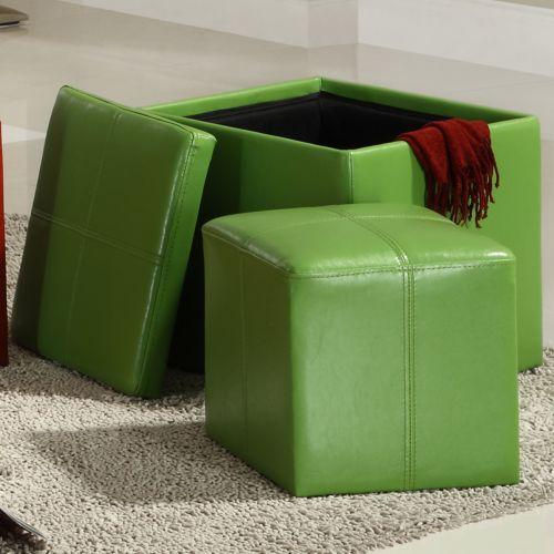 HomeVance Storage Ottoman