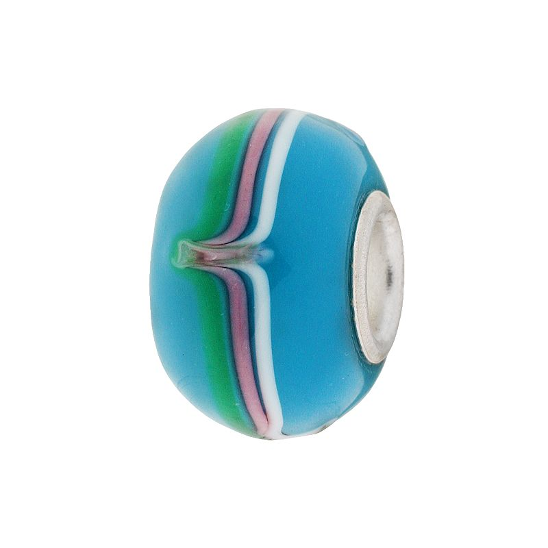 Individuality Beads Sterling Silver Striped Glass Bead