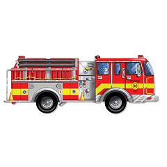 Melissa & Doug Fire Truck Floor Puzzle by