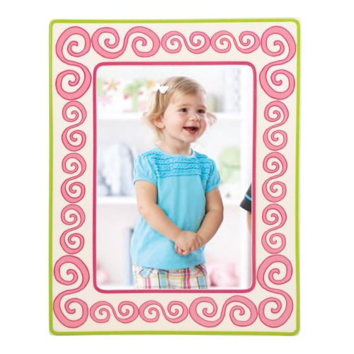 Merry Go Round Little Girl With A Curl Swirl 5 x 7 Frame