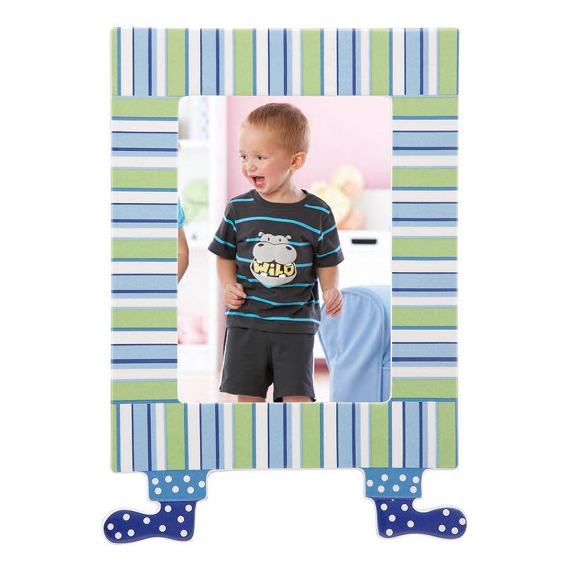 Merry Go Round Little Boy Blue Striped 5 x 7 Frame
