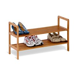 Honey-Can-Do Bamboo 2-Tier Shoe Rack by