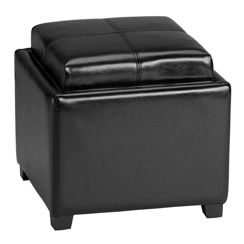 Safavieh Bennett Single Tray Storage Ottoman