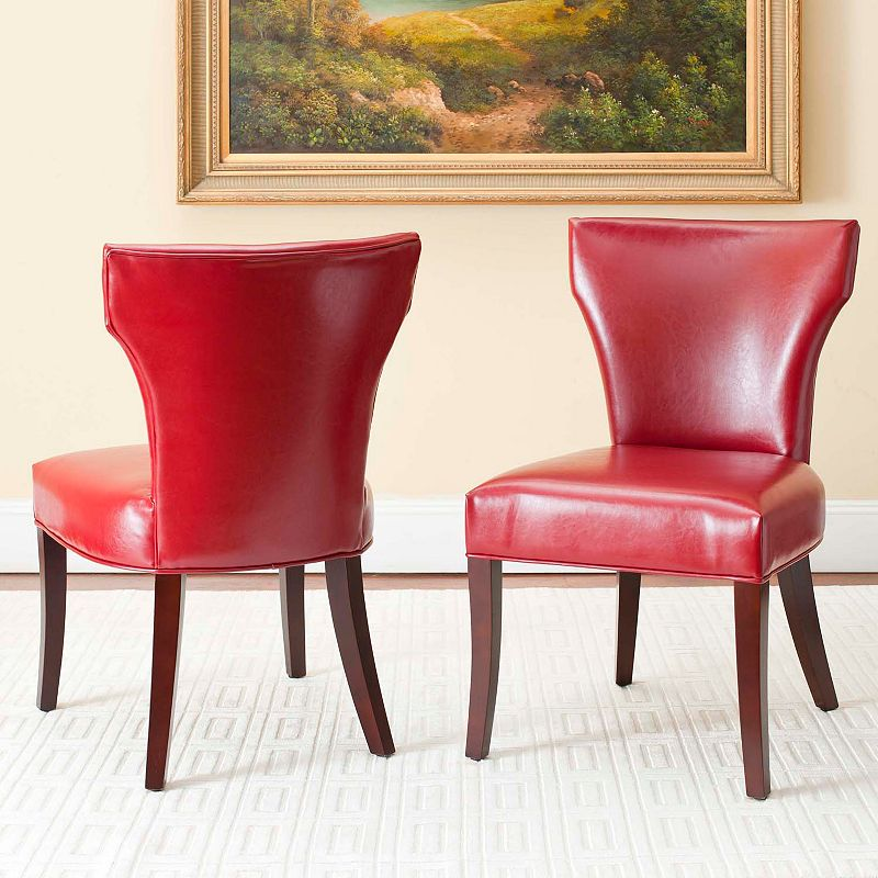 Safavieh 2-pc. Wyatt Bicast Leather Dining Chair Set