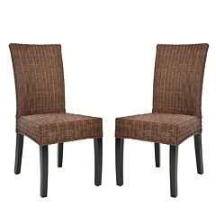 Safavieh 2-pc. James Wicker Side Chair Set by