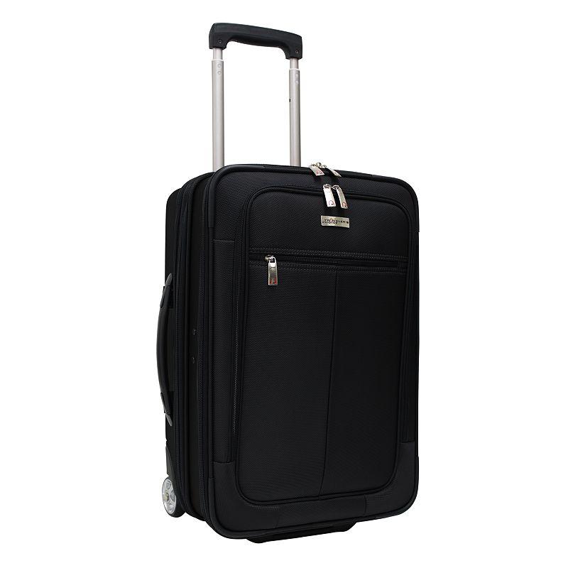 Traveler's Choice Siena 21-Inch Hybrid Wheeled Carry-On & Garment bag, Black