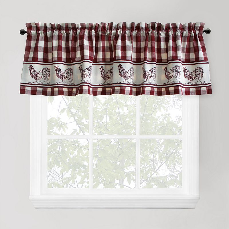 Park B. Smith Provencal Rooster Tier Valance - 60'' x 14''