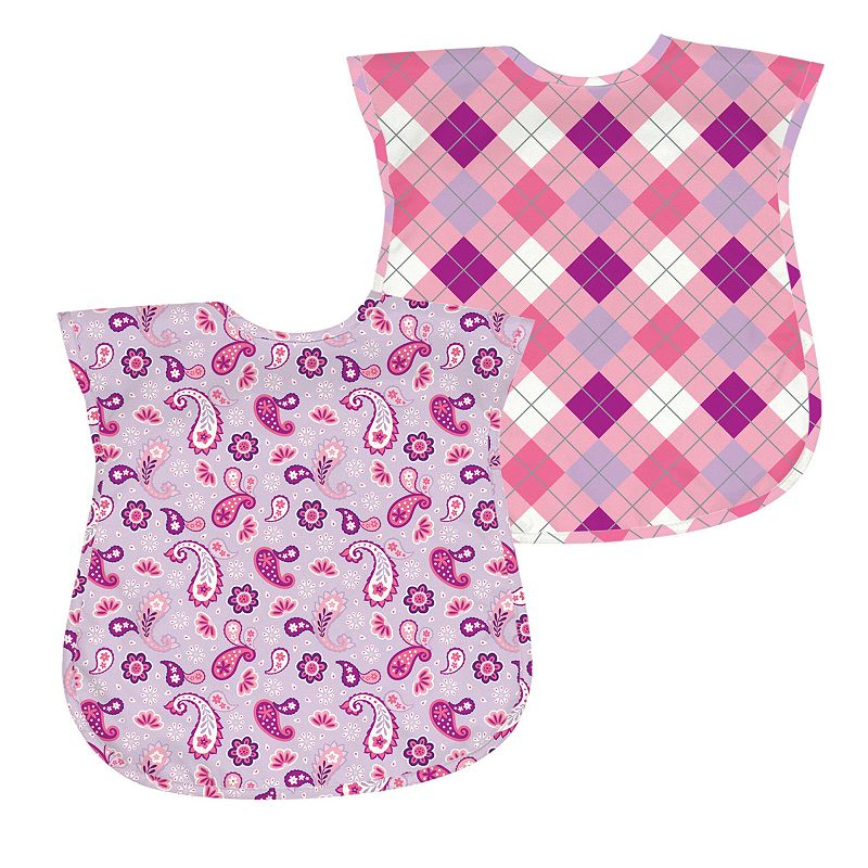 Green Sprouts by i play. 2-pk. Argyle and Paisley Waterproof Bibs - Baby