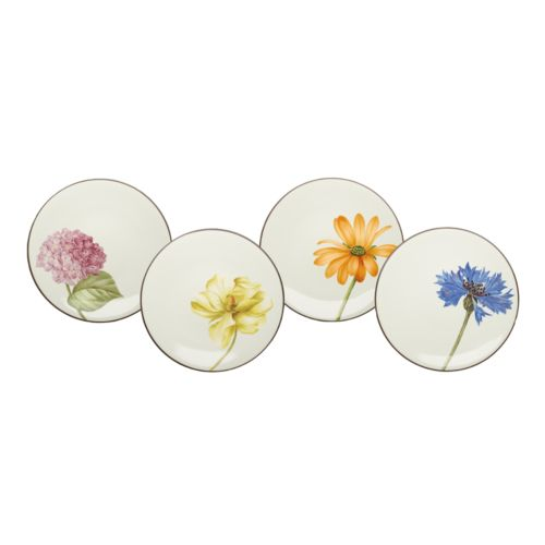 Noritake Colorwave Chocolate 4-pc. Floral Accent Plate Set