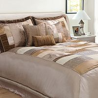 Hudson Street Florence Tan 7-pc. Comforter Set - Queen