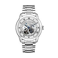 Bulova Men's BVA Stainless Steel Skeleton Watch - 96A118