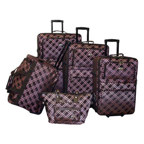 American Flyer Luggage, Pemberly Buckles 5-pc. Luggage Set