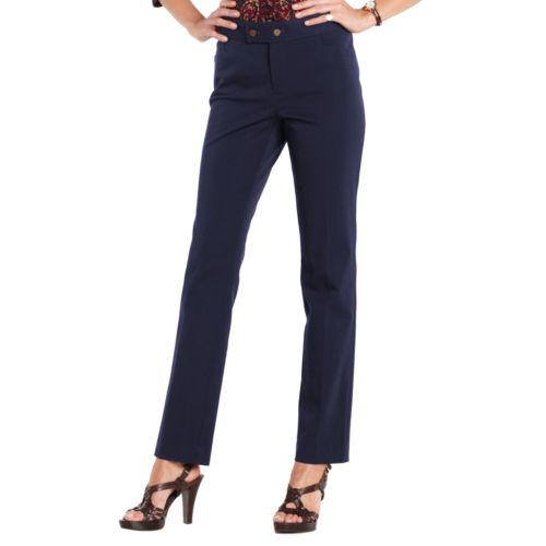 Chaps Slim Dress Pants - Petite