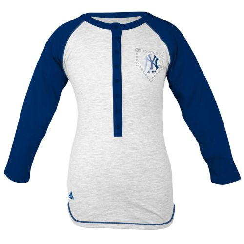 adidas New York Yankees Baseball Tee - Girls' 7-16