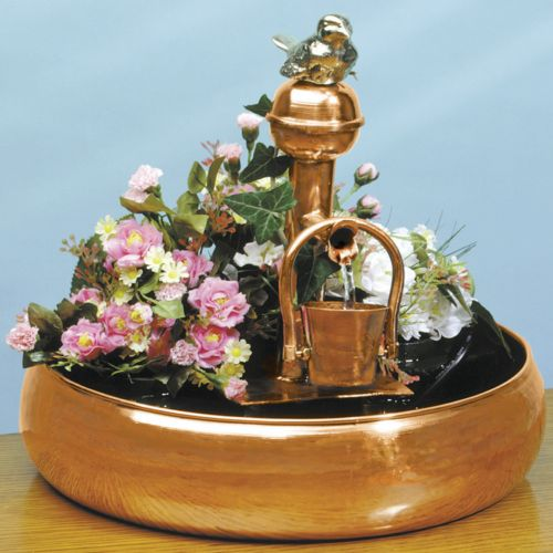 Unique Arts Copper Tipping Bucket Fountain - Outdoor