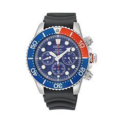 Seiko Men's Solar Chronograph Dive Watch SSC031