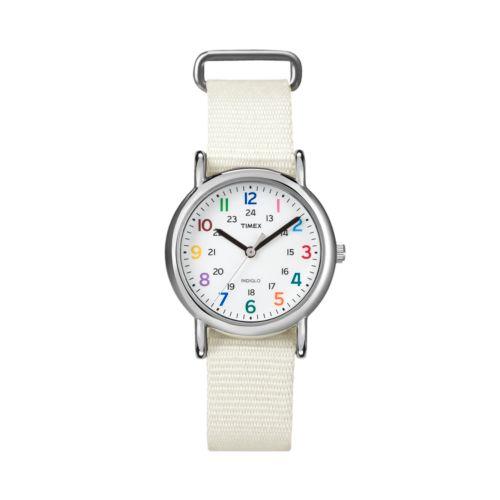 Timex Weekender Silver Tone Watch - T2N837KW - Women