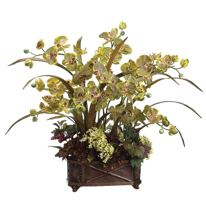 31-in. Artificial Orchid And Hydrangea Floral Arrangement