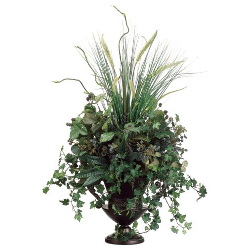 34-in. Artificial Grass, Willow And Raspberry Arrangement