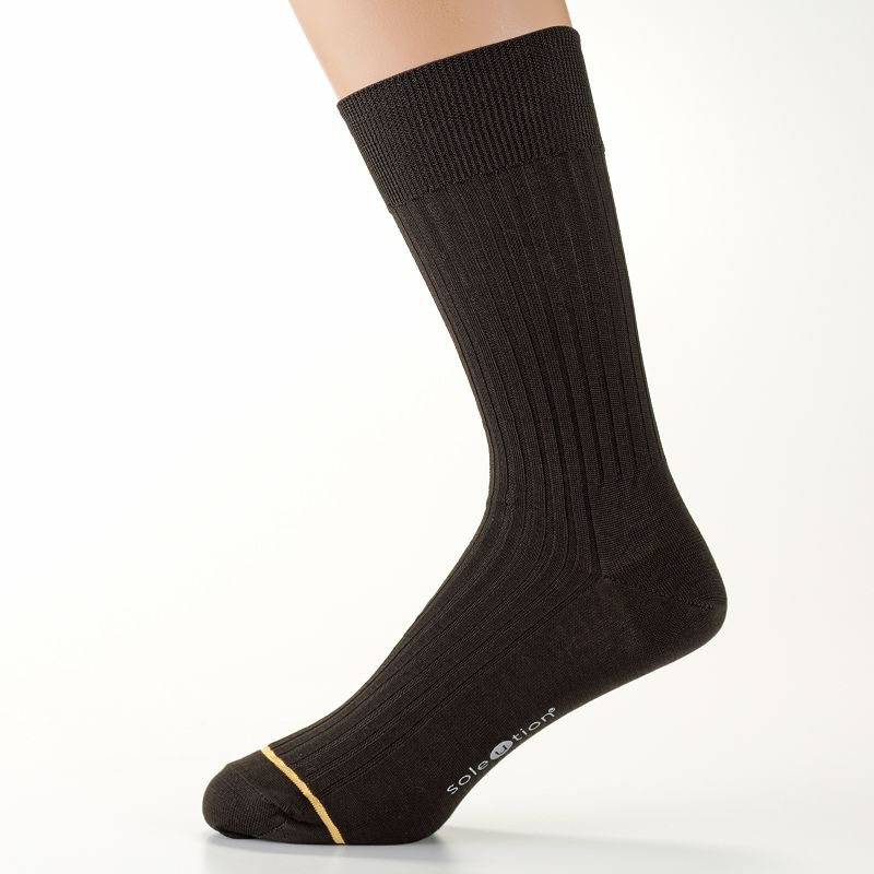 Men's GOLDTOE SoleUtion Non-Binding Crew Socks