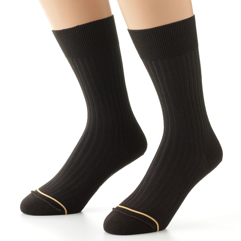 Men's GOLDTOE 2-pk. SoleUtion Non-Binding Crew Socks