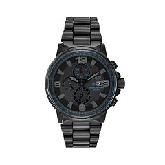 Citizen Eco-Drive Men's Nighthawk Stainless Steel Chronograph Watch CA0295-58E