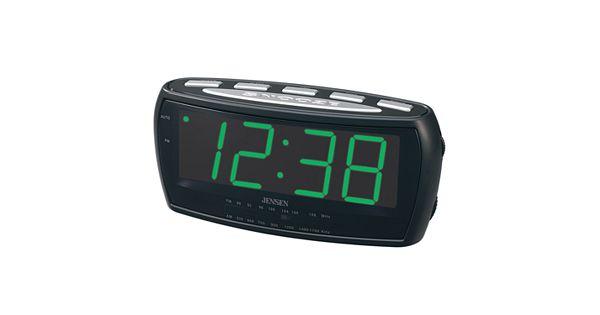 jensen digital alarm clock radio. Black Bedroom Furniture Sets. Home Design Ideas
