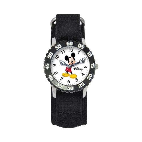 Disney Mickey Mouse Time Teacher Stainless Steel Watch