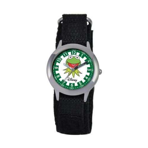Disney Muppets Kermit the Frog Time Teacher Stainless Steel Watch - Kids