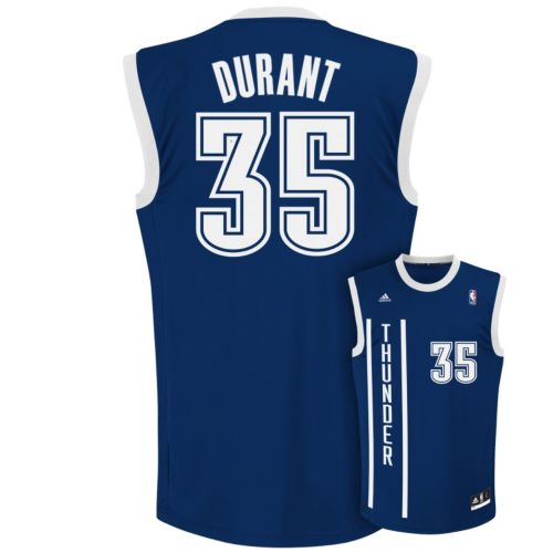 adidas Oklahoma City Thunder Kevin Durant NBA Jersey -  Men