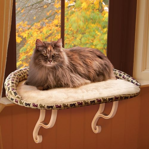 K and H Pet Kitty Sill with Bolster