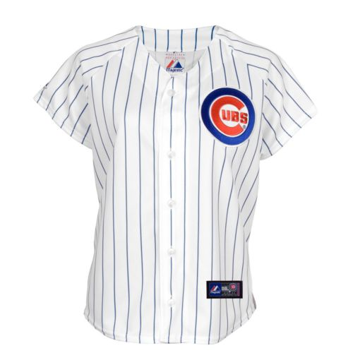 Majestic Chicago Cubs Striped MLB Jersey - Big and Tall