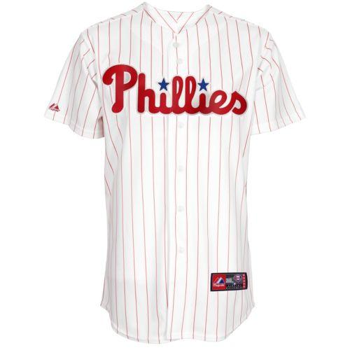 Big & Tall Majestic Philadelphia Phillies Striped MLB Jersey