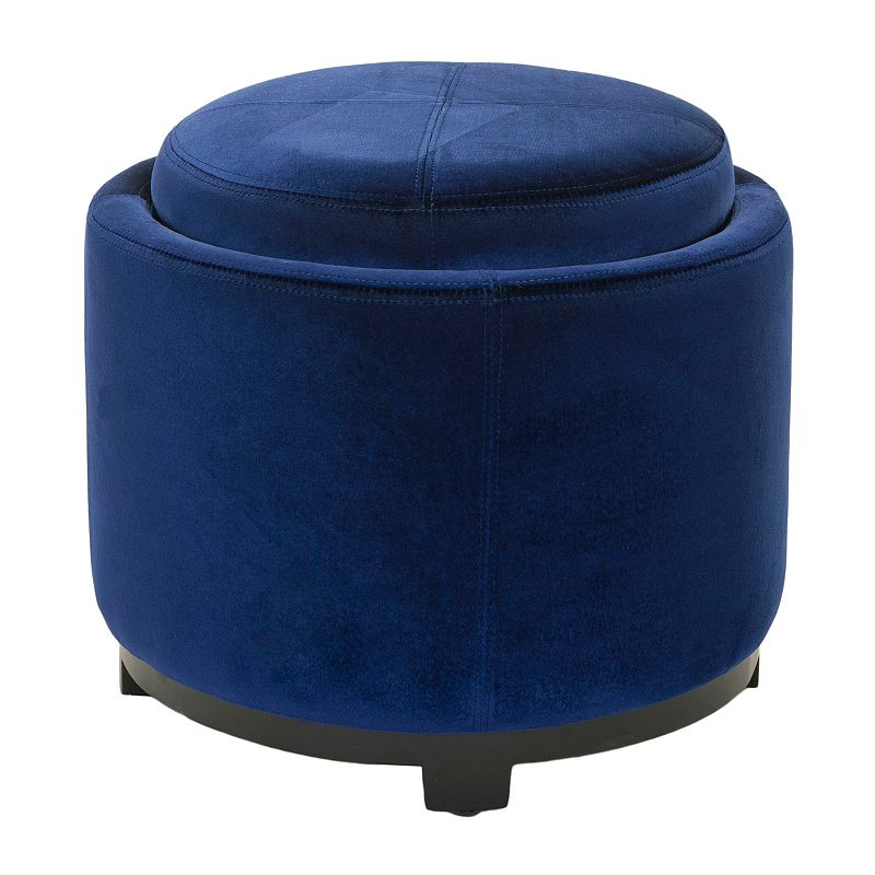 Safavieh Jasper Round Single Tray Storage Ottoman