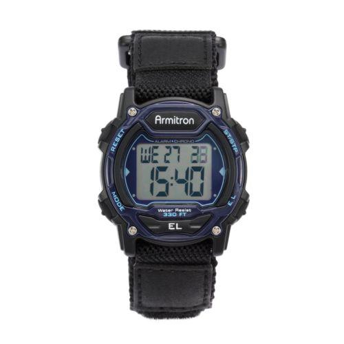 Armitron Watch - Women's Black Nylon Digital Chronograph