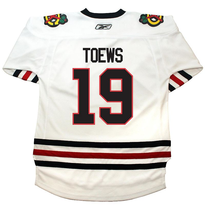 Boys 8-20 Reebok Chicago Blackhawks Jonathan Toews White Jersey