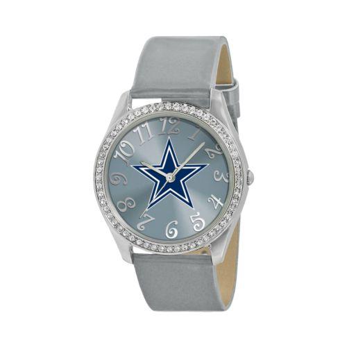 Game Time Glitz Dallas Cowboys Silver Tone Crystal Watch - NFL-GLI-DAL - Women