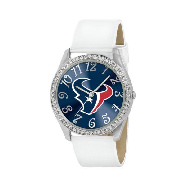 Game Time Glitz Houston Texans Silver Tone Crystal Watch - NFL-GLI-HOU - Women