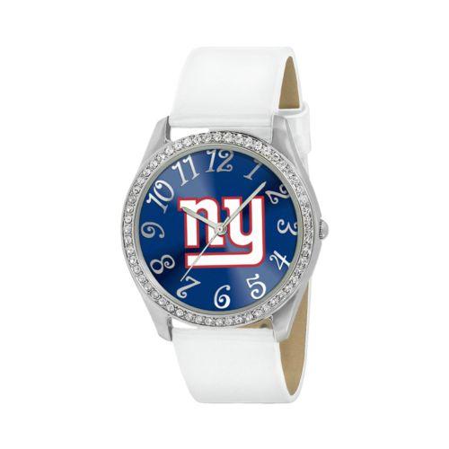 Game Time Glitz New York Giants Silver Tone Crystal Watch - NFL-GLI-NYG - Women