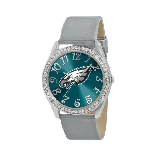 Game Time Glitz Philadelphia Eagles Silver Tone Crystal Watch - NFL-GLI-PHI - Women