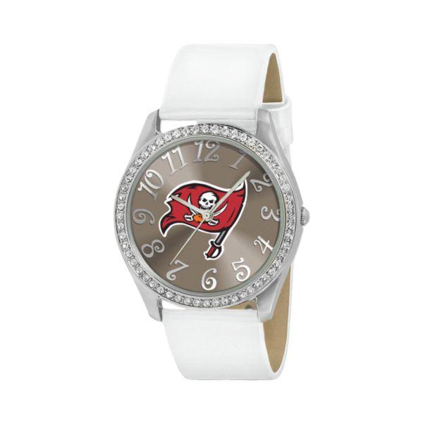 Game Time Glitz Tampa Bay Buccaneers Silver Tone Crystal Watch - NFL-GLI-TB - Women