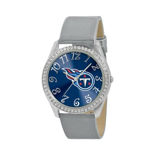 Game Time Glitz Tennessee Titans Silver Tone Crystal Watch - NFL-GLI-TEN - Women