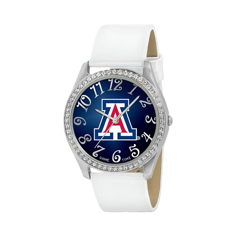 Game Time Glitz Arizona Wildcats Silver Tone Crystal Watch - COL-GLI-ARI - Women