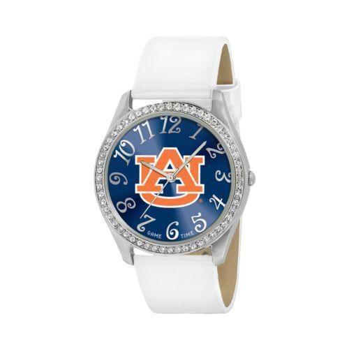 Game Time Glitz Auburn Tigers Silver Tone Crystal Watch - COL-GLI-AUB - Women