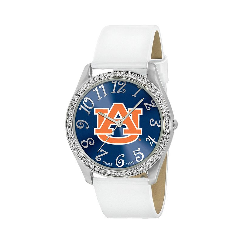 Game Time Glitz Auburn Tigers Silver Tone Crystal Watch - COL-GLI-AUB - Women